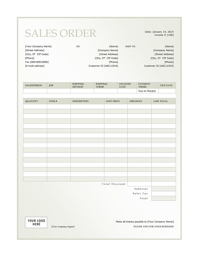 sales order template 3