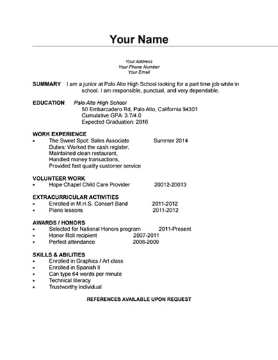 Free Simple Blank Cv Download Wondershare Pdfelement