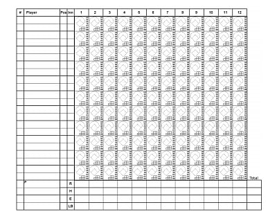 softball score sheet 2