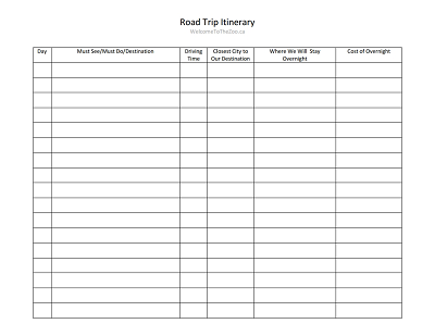 Download Itinerary Template from images.wondershare.com