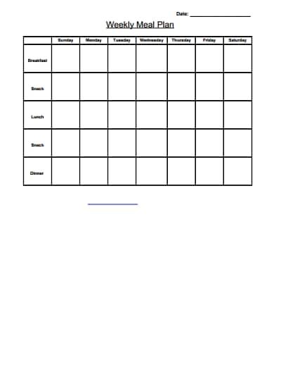 weekly menu template 2