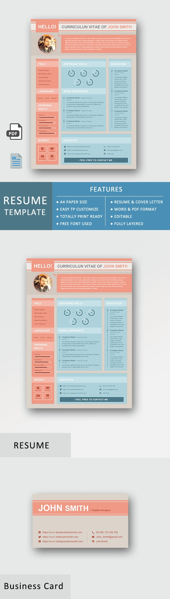 Resume Template - Business Set Basic