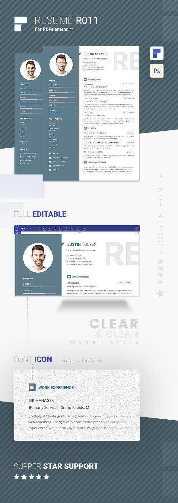 Resume Template - Calmless Gray