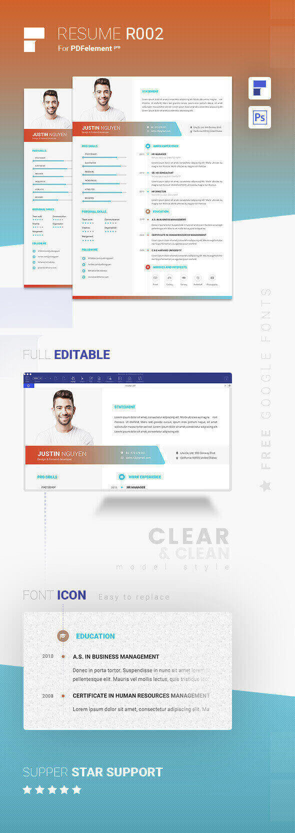 Resume Template - Colorful Life