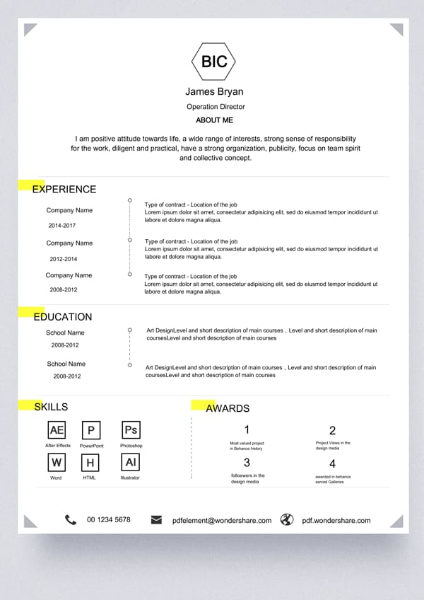 basic resume template  free download  edit  create  fill