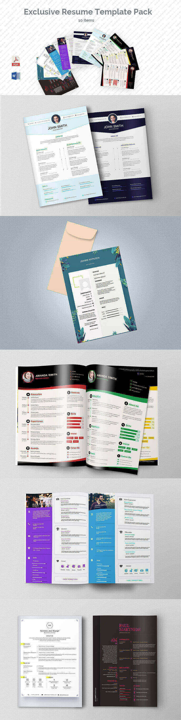 Deluxe Resume Template Pack (10 Items)