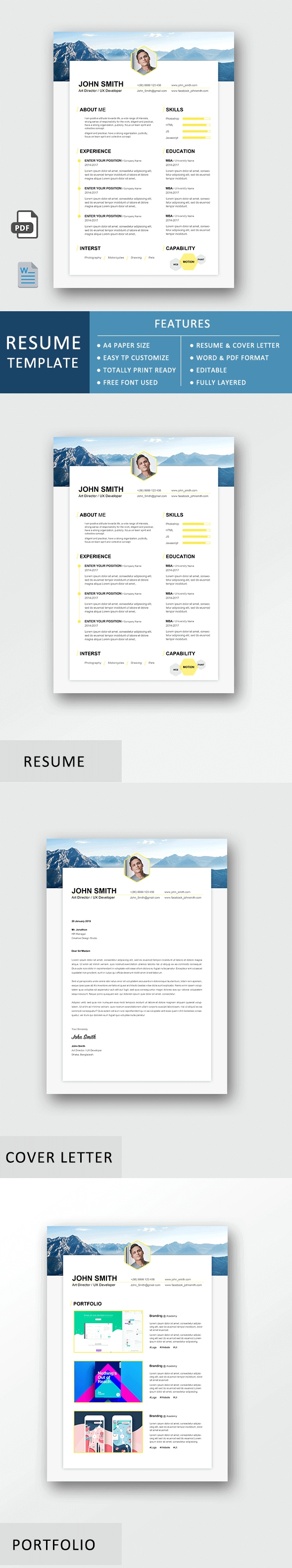 Resume Template - Exclusive Resume Set