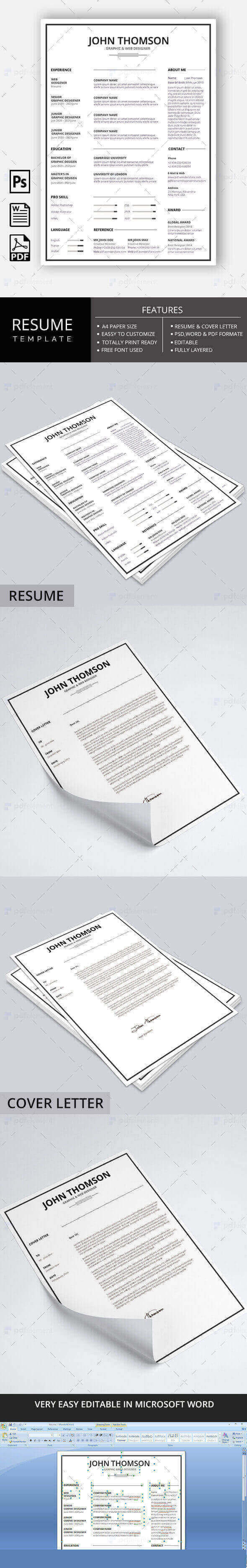Resume Template - Minimal Simple Lite