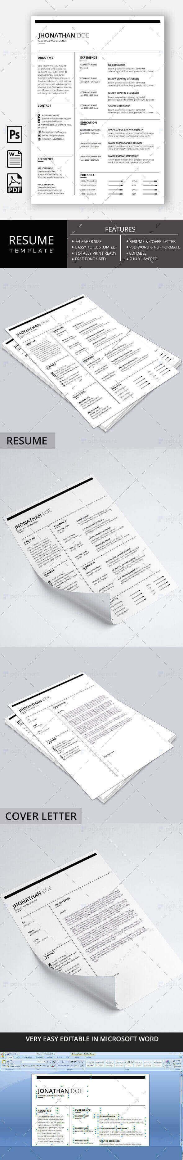 Resume Template - Modern Line