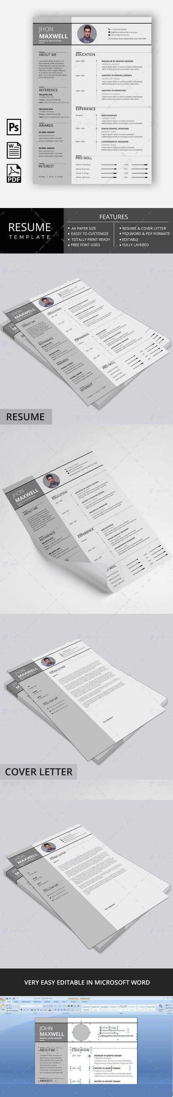 Resume Template - Paradise Gray