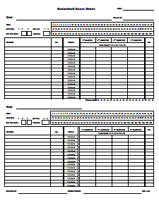 Basketball Score Sheet: Free Download, Create, Edit, Fill and Print