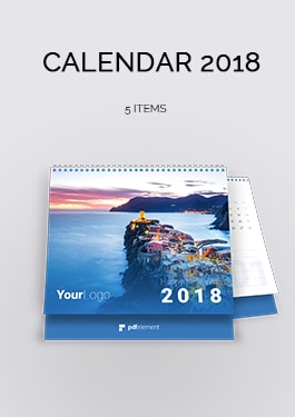 Exclusive Calendar 2018 Template Pack