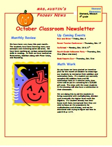 Classroom Newsletter Template: Download, Create, Edit, Fill and Print