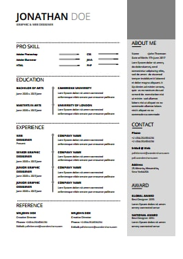 Resume Template - Cloud Gray