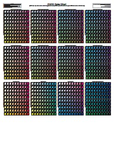 CMYK Color Chart: Free Download, Create, Edit, Fill and Print