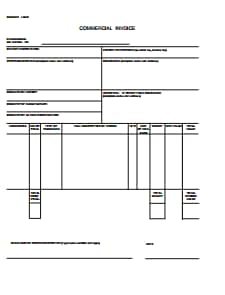 Commercial Invoice - Download, Create, Edit, Fill and Print PDF Templates