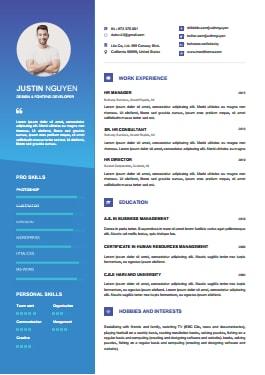 Resume Template - ContemporaryBlue