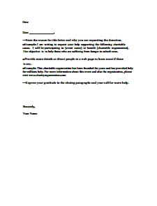 Donation Request Letter Template : Download, Create, Edit, Fill and Print