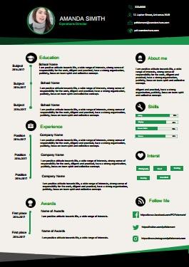 Resume Template - Elegant Green