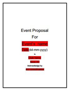 Event Proposal Template: Free Download, Create, Edit, Fill, Print