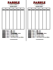 Farkle Score Sheet: Free Download, Create, Edit, Fill and Print