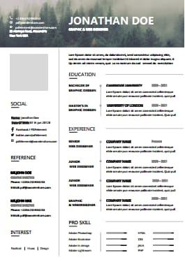 Resume Template - Fog Forest