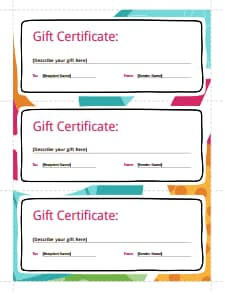 Gift Certificate Template: Free Download, Create, Fill, Print
