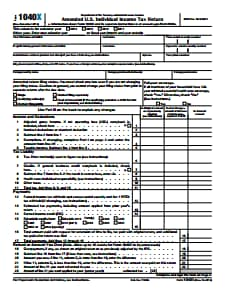 IRS form 1040X : Free Download, Create, Edit, Fill and Print