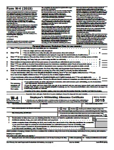 IRS Form W-4 - Free Download, Create, Edit, Fill and Print