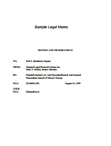 Legal Memo Template: Free Download, Create, Edit, Fill and Print