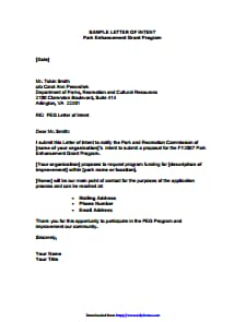 Letter Of Intent - Free Download, Create, Edit, Fill and Print PDF Templates