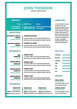 Resume Template - Magic Color Lite