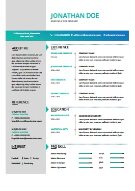 Resume Template - Magic Color Pro