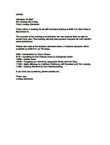 Meeting Memo Template: Free Download, Create, Edit, Fill and Print