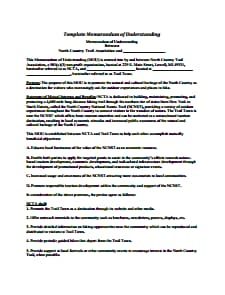 Memorandum of Understanding Template: Free Download, Create, Edit, Fill and Prin