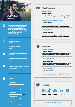Resume Template - Modern Blue