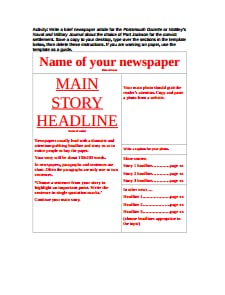 Newspaper Template: Free Download, Edit, Fill, Create and Print