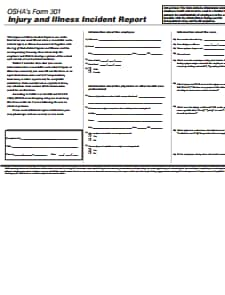 OSHA Form 301: Free Download, Create, Edit, Fill and Print