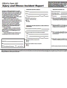 OSHA Form 301: Free Download, Create, Edit, Fill and Print