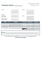 Packing Slip Template: Free Download, Create, Edit, Fill and Print