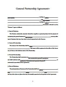 Partnership Agreement Template: Free Download, Create, Edit, Fill and Print