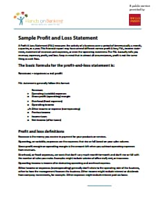 Profit And Loss Statement - Free Download, Edit, Fill, Create and Print PDF Temp