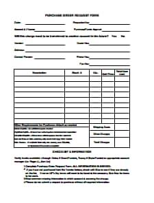 Modelo de Formulário de Solicitação de Pedido de Compra: Baixe, Crie, Edite, Preencha e Imprima Grátis