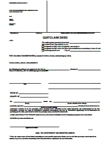 Quit Claim Deed - Free Download, Create, Edit, Fill and Print PDF Template