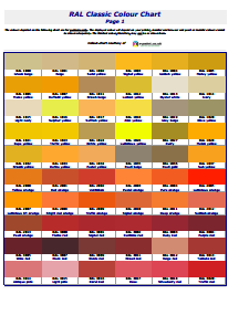 Ral Color Chart: Free Download, Edit, Fill, Create and Print