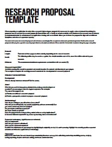 Research Proposal Template: Free Download, Edit, Create, Fill and Print