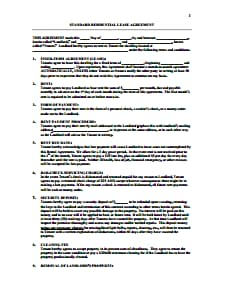 Residential Lease Agreement Template: Free Download, Edit, Fill, Create and Prin