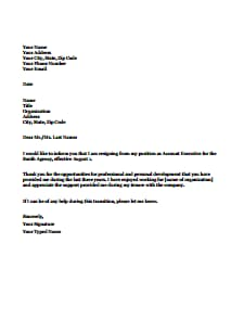 Resignation Letter Template: Free Download, Create, Edit, Fill and Print