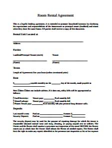 Room Rental Agreement Template Free Download Create Edit Fill Wondershare Pdfelement
