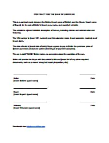 Sales Contract Template: Free Download, Create, Edit, Fill and Print